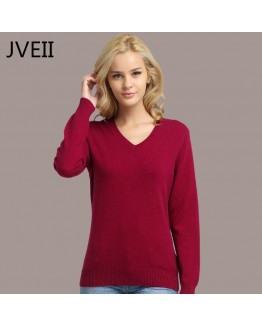 2020 Autumn Winter Women Sweater Knitted Female Long Sleeve V-neck Cashmere Sweater And Pullover Female Pink Slim Jumpers