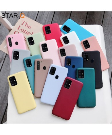 candy color silicone phone case for samsung galaxy a51 a71 5g a21 a31 a11 a41 m51 m31 a21s a91 A81 A01 matte soft tpu cover