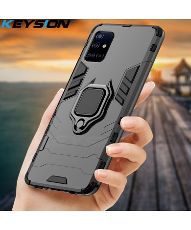 KEYSION Shockproof Case for Samsung A51 A71 A31 Phone Cover for Galaxy S20 Ultra S10 Lite Note 10 Plus A50 A70 A40 A10 A01 A21S