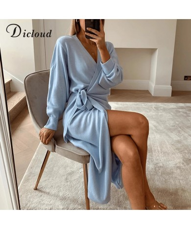 DICLOUD V Neck Knitted Dress