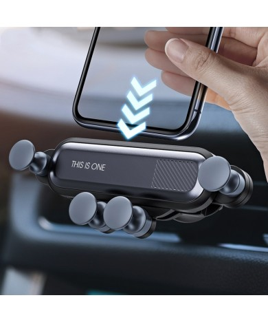 Gravity Car Holder For Phone in Car Air Vent Clip Mount No Magnetic Mobile Phone Holder GPS Stand For iPhone 11 Pro Samsung A